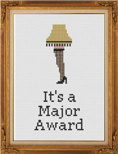 It's A Major Award  Leg Lamp  A Christmas Story  by crassXstitch, $13.99