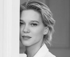 lea seydoux. Her hair looks gorgeous no matter what style she does!