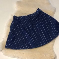 Small polka dot skirt with waist band Gently worn, best fits a small. ****color is lighter than image above Skirts