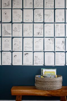 Shel Silverstein book pages as room decor