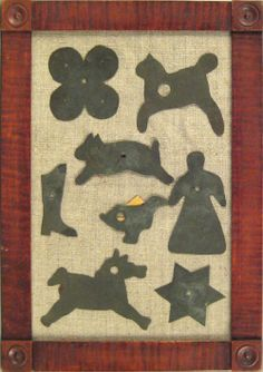 Tin quilt patterns, late 19th c., Pook & Pook Pook est 300-500 realized 1755.00 Oct 2008