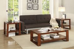 He-3509-31 Pannell Collection 3Pc Pack Occasional Table