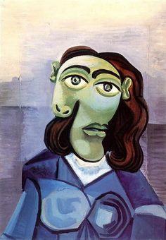 Pablo Picasso. Portrait de Dora Maar aux yeux bleus. 1939