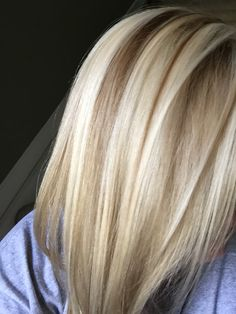 Blonde highlights & low lights