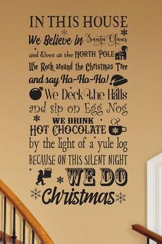 A fun quote to add to your Christmas decorations.  #affiliate