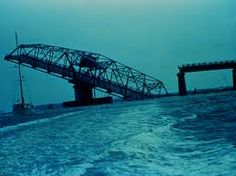 Ben Sawyer Bridge after Hurricane Hugo in 1989