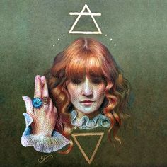 """""""Air & Water"""" Fanart of Florence Welch from Florence + The Machine by mjodzjo"""