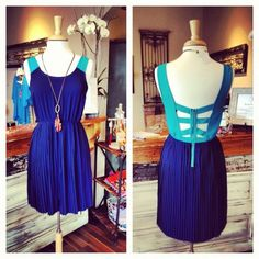 Bridesmaids dresses Navy and teal dress, call to order! (865) 249-8282.