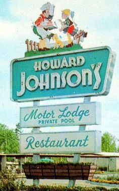 Hotel, Motel, Or Inn? Many options exist when booking travel accommodations, from shady motels to five star hotels on the strip. Your trip experience depends on whether you are Vintage Hotels, Vintage Travel, Vintage Advertisements, Vintage Ads, Retro Ads, Retro Signage, Howard Johnson's, Vintage Restaurant, Restaurant Signs