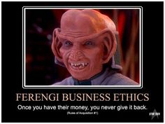 17 Best Ferengi Rules Of Acquisition Images Star Trek Commander