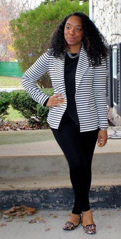 Style & Poise-Striped Blazer
