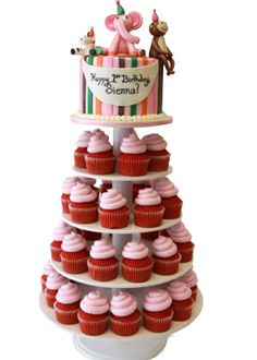 Birthday Cupcake Towers