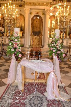 #Impressive wedding candles decorated with beautiful flowers dressed in lace in shades of pink. See more at: https://www.instagram.com/diamond_event_planners/  https://plus.google.com/u/0/+DiamondeventsGr  https://gr.pinterest.com/diamondwedding/  https://www.facebook.com/Diamond-Event-Planners-176242063682/  http://diamondevents.gr/ #luxuryweddings #marriage #mykonos #orthodox #patra #pink #princess #queen  #reception #resort #roses #royal #rustic #santorini #shabby #starfish #summer #table