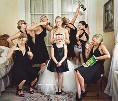 Have fun with your bridesmaids!  Photo by Maria Vicencio Photography