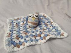Crochet Owl Baby Blanket Lovie by TheHappyStar on Etsy