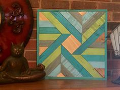 Barnwood Quilt Blue And Green Reclaimed Wood Wall Art