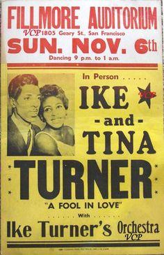 Earliest Tina Turner concert poster - 1960
