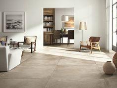 tegels: Concrete Mud by Nuovocorso - Home Decor Flooring Best Flooring, Diy Flooring, Flooring Options, Kitchen Flooring, Kitchen Cabinets, Living Room Flooring, Living Room Interior, Grey Kitchen Floor, Concrete Tiles
