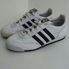 Sold Adidas Dragon White Black Training Shoes 6.5 Adidas Dragon White Black Training Shoes 6.5 Little wear. No wear on tread. Adidas Shoes Athletic Shoes
