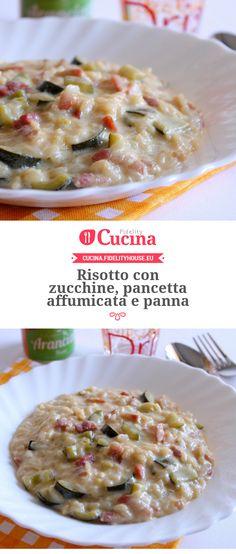 #Risotto con #zucchine, #pancetta affumicata e panna della nostra utente Giovanna. Unisciti alla nostra Community ed invia le tue ricette!