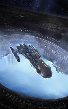 A portal in the Dyson Sphere opens beneath your ship