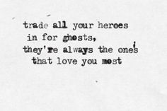 Typewritten lyrics. Your Love Alone Is Not Enough by Manic Street Preachers.