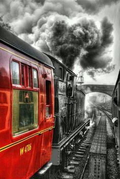 Steam Trains Uk North Yorkshire York England Color Splash Train Stations
