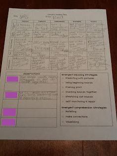 Made In The Shade In 2nd Grade: Guided Reading Plans Template