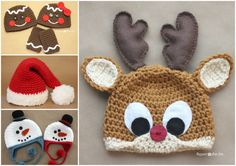 Crochet Holiday Hats FREE Patterns