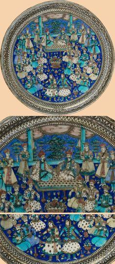 Antique Persian Qajar Tile  http://www.textileasart.com/inventory/a2051.jpg