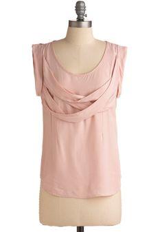 Tulle Clothing Bellini Breakfast Top   Mod Retro Vintage Short Sleeve Shirts   ModCloth.com.   Refashion idea.