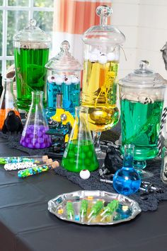 Create a Mad Scientist party for Halloween with Goblies. This is an easy to do kids Halloween party that you can have done in no time. Goblies is the perfect addition for the Mad Scientist party.