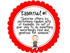 The Top Ten Essentials posters (FREE) adapted from Ron Clark's Essential 55 posted on Second Grade Shenanigans