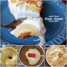 Torta de Maracujá mais gostosa e mais fresca da vida! Massa crocante, recheio delicioso e cobertura nevada de marshmallow caseiro! hummm ... delicia!  http://www.montaencanta.com.br/sobremesa-2/torta-de-maracuja/