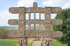 Sanchi houses various Buddhist memorials and historic sites which belong to the period ranging from century CE (Common Era) to century BCE (Before Common Era). The Sanchi Stupa . Travel And Tourism, Us Travel, Monuments, Sanchi Stupa, 12th Century, Historical Sites, You Must, Common Era, Pergola