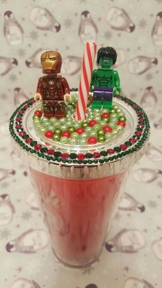 Super Hero customised cup, flashing rudolph raver Christmas tumbler cup with lid and straw