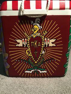 Pi Kappa Alpha crest fraternity cooler