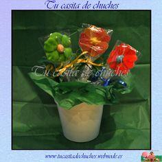 Flores de chuches sin gluten.