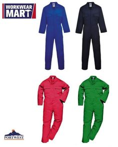 Portwest Men's Polycotton Work Coverall Overall, S999. WORKWEAR MART are one of the leading suppliers of affordable high quality workwear in the USA. Our product ranges include High-Visibility clothing, Workwear, Footwear, Hand Protection, PPE, Accessories & Rainwear. | eBay!
