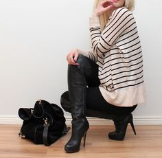 Knitting: HM / Pants: Zara / Boots: Topshop / Bag: Tiger of Sweden