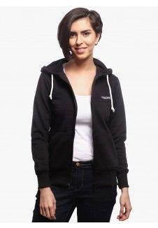 Women Sweatshirt Basic Zip Hoody