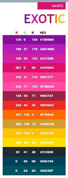 Exotic web colors