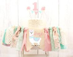 Pink Llama Fiesta Birthday High Chair Banner Llama Cactus Highchair Banner Boho Llama Decor Cactus Birthday Decoration Baby Girl Birthday Celebrate your little ones first birthday with this adorabl… First Birthday Cake Topper, First Birthday Party Themes, Baby Girl 1st Birthday, Birthday Party Decorations, Birthday Celebration, Birthday Ideas, Party Favors, Llama Birthday, Birthday Tutu