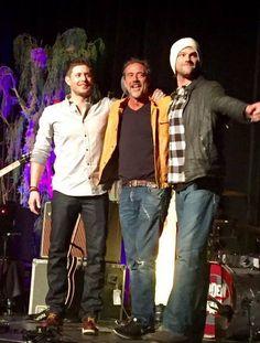 The Boys & Papa Winchester at VegasCon2015 || Jensen Ackles Jeffrey Dean Morgan & Jared Padalecki #VegasCon
