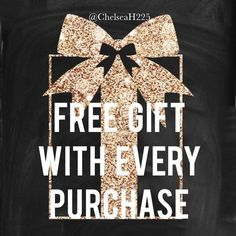 FREE GIFT WITH EVERY PURCHASE  Free gifts with every purchase! The more you spend the more you get!  Dresses