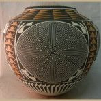 Acoma Olla With Starburst Maze Pattern by Kathy Victorino