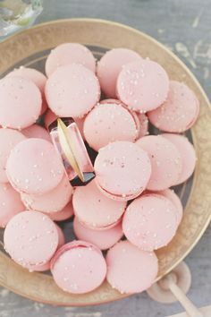 #Pink #Macaron | Wedding Desserts | Onelove Photography | #SMP Weddings: http://www.stylemepretty.com/2013/12/04/travel-themed-wedding-at-saddlerock-ranch-from-onelove-photography/
