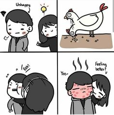 Sure I wouldn't mind this therapy Love Cartoon Couple, Cute Couple Comics, Couples Comics, Anime Love Couple, Cute Comics, Cute Funny Pics, Cute Love Memes, Cute Love Pictures, Cute Couples Goals