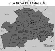 Freguesias do concelho de Vila Nova de Famalicão