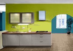Farbgestaltung Für Eine Küche In Grün/Fresh.